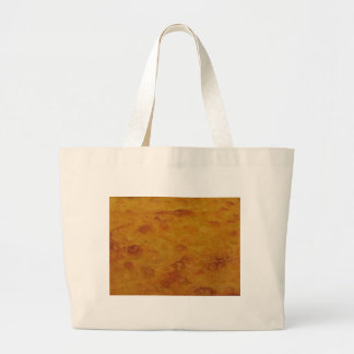 Closeup of chickpea flour pancake known as Cecina Large Tote Bag