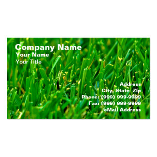 Closeup of Green Lawn Business Cards