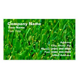 Closeup of Green Lawn Business Card