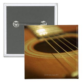 Closeup of Guitar 15 Cm Square Badge