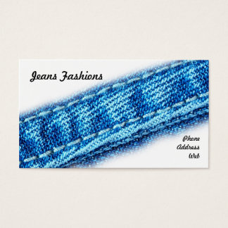Closeup of Jeans and Denim Fabric Business Card