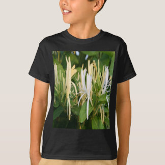 Closeup of Lonicera European Honeysuckle Flower T-Shirt