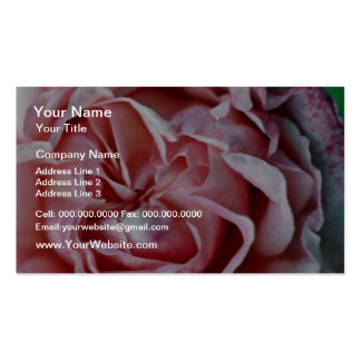 Closeup Of Pink Flower flowers Business Card Template