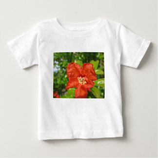Closeup of red pomegranate flower baby T-Shirt
