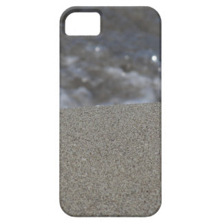Closeup of sand beach with sea blurred background barely there iPhone 5 case
