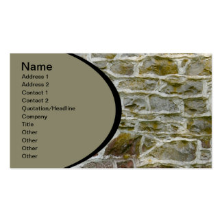 closeup of stone wall and mortar pack of standard business cards