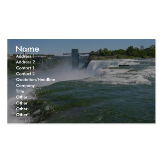 Closeup Of The American Side Of Niagra Falls Business Card Template