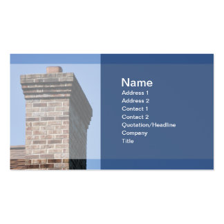 closeup photo of a brick chimney for a house business card templates