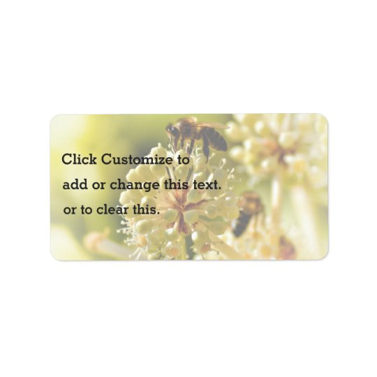Closeup Themed, A Bee Lands On A Flower In A Close Address Label