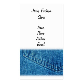 Closeup View of Jeans Pants Pattern Pack Of Standard Business Cards