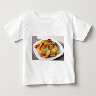 Closeup view of stewed potatoes baby T-Shirt