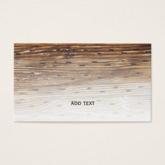 closeup view of wood with nails business card