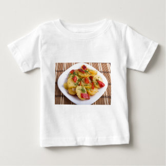 Closeup view on slices of potato stew baby T-Shirt