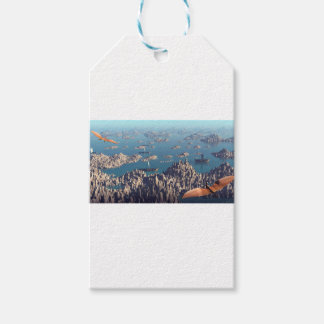 Closing In Fantasy Landscape Gift Tags