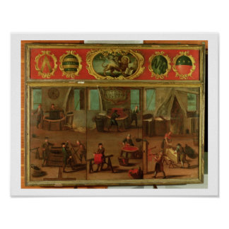 Cloth Dyers Demonstrating their Trade and Skills Poster
