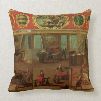 Cloth Dyers Demonstrating their Trade and Skills Throw Cushions