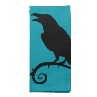 Cloth Napkin Set - 'Raven Song'
