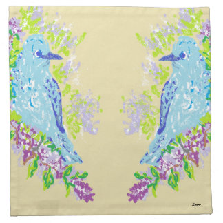 Cloth Napkins/ Blue Birds