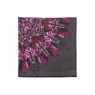 Cloth Napkins Pink Mandala Design