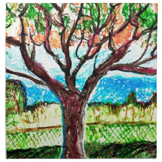 "Cloth Napkins (set of 4) dinner 20"" x 20"" Tree Art"
