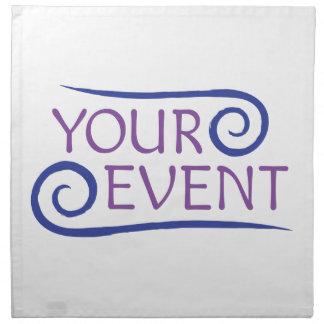 Cloth Napkins with Custom Event Logo
