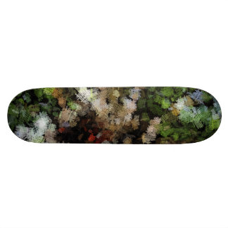 Cloth patches of different colors skateboard deck