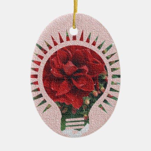 Cloth Rose Bright Idea Christmas Ornaments