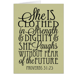 Clothed in Strength & Dignity Card
