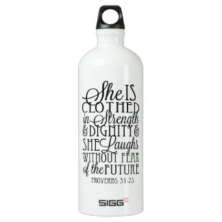 Clothed in Strength & Dignity Water Bottle