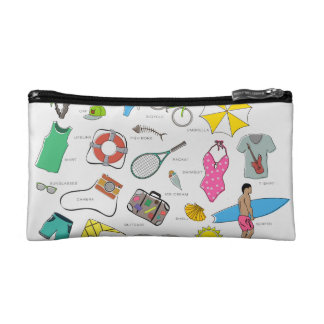 clothes, entertainment and travel makeup bag