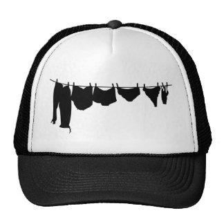 Clothes line silhouette cap