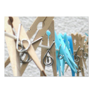 Clothes Pegs on a Washing Line Invitation
