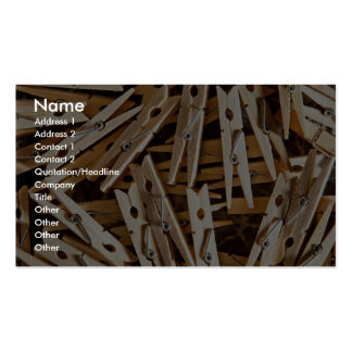 Clothes pins business cards