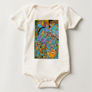 Clothes with The Sun Ride by Lorenzo Traverso Baby Bodysuit