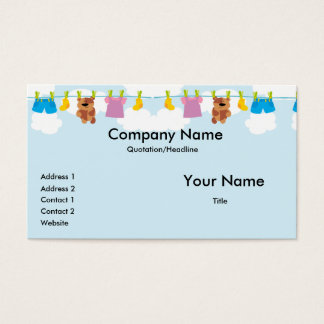 Clothesline Business Cards