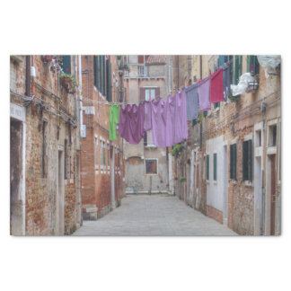 Clothesline In Venice Italy Tissue Paper