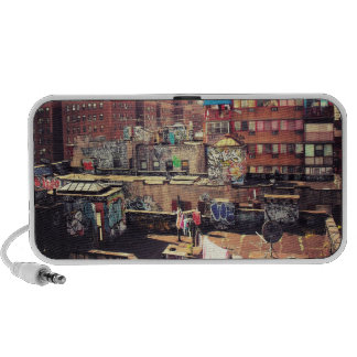 Clotheslines and Graffiti Portable Speakers