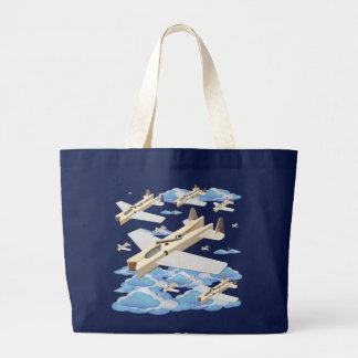 Clothespin Airplanes Jumbo Tote Bag