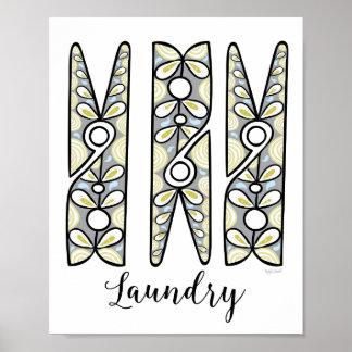 Clothespin Laundry Room Wall Art