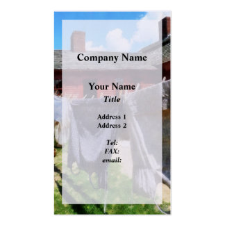 Clothing Hanging on Line Closeup Pack Of Standard Business Cards