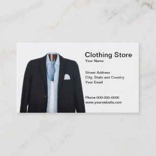 Clothing Store Business Cards Zazzle Au