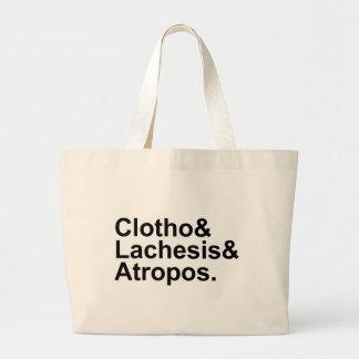 Clotho Lachesis Atropos | 3 Fates of Greek Myth Jumbo Tote Bag
