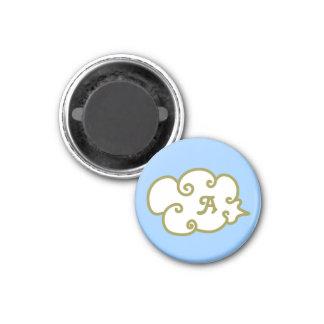 cloud 3 cm round magnet