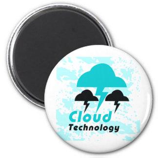 Cloud 6 Cm Round Magnet