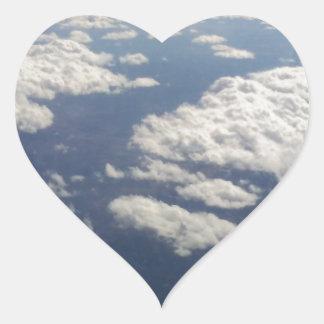 Cloud 9 heart sticker