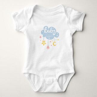 Cloud And Stars Baby Shower Invitation Design Temp Baby Bodysuit