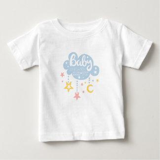 Cloud And Stars Baby Shower Invitation Design Temp Baby T-Shirt