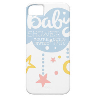Cloud And Stars Baby Shower Invitation Design Temp Case For The iPhone 5