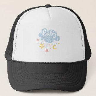 Cloud And Stars Baby Shower Invitation Design Temp Trucker Hat