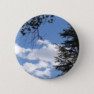 Cloud And Trees 6 Cm Round Badge